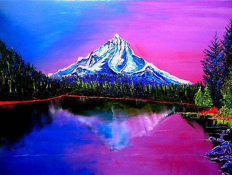 Mount Hood At Dusk 10 by Portland Art Creations