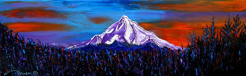 Mount Hood At Dusk #14 by Portland Art Creations