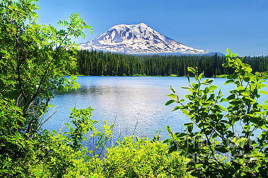 Mt. Adams and Takhlakh Lake by Ansel Price
