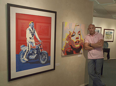 My Pop Art Show at The Garden Gallery. Carlisle PA by Chris Mackie