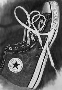 My Son's Chuck Taylor Converse Shoe by Carliss Mora