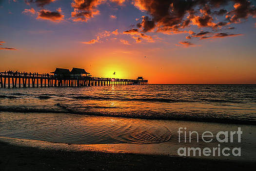 Naples Pier sunset by Claudia M Photography