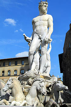 Neptune Fountain Florence by Lisa Boyd