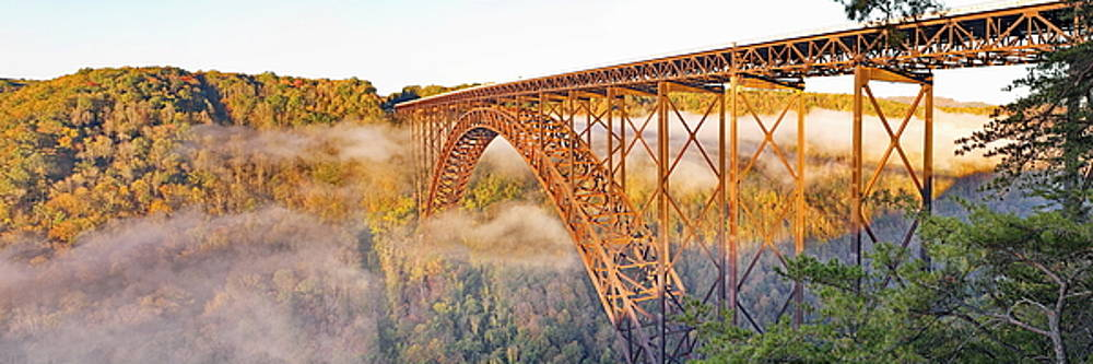 Simply  Photos - New River Gorge Bridge Morning Fall Panorama