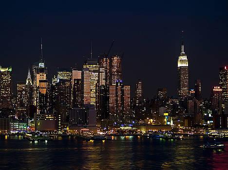 New York Skyline View by Andrew Kazmierski
