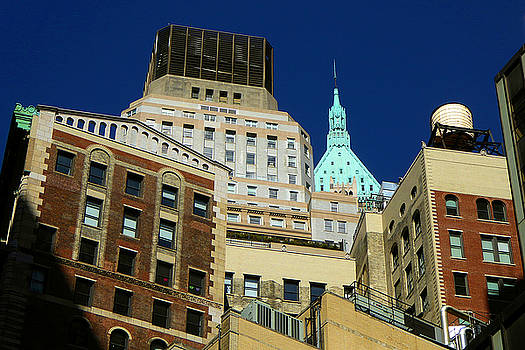 New York Tops - Wall Street Skyline by Art America Gallery Peter Potter