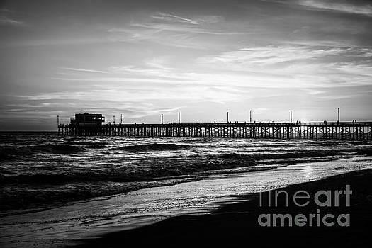 Paul Velgos - Newport Beach Pier Black and White Picture