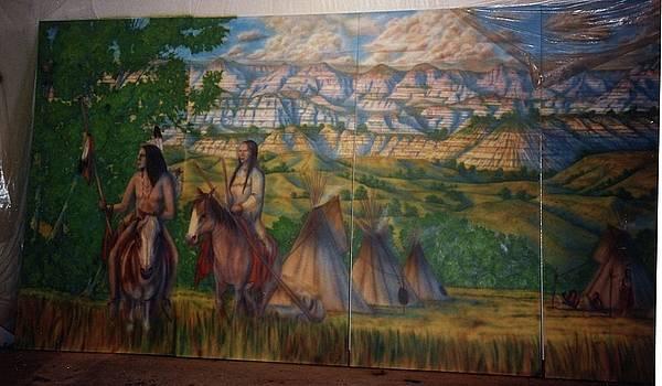 North Dakota Cowboy Hall of Fame by Wayne Pruse
