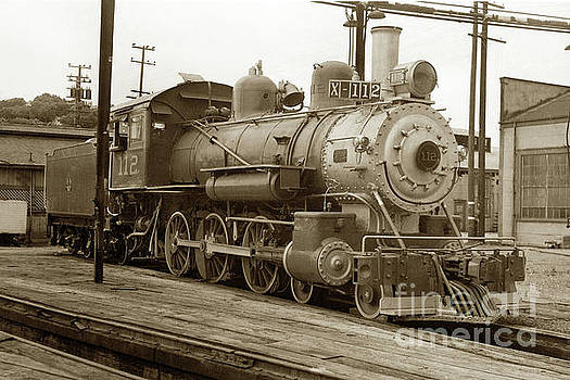 California Views Archives Mr Pat Hathaway Archives - Northwestern Pacific locomotive 4-6-0 No. 112 in the Tiburon Yar