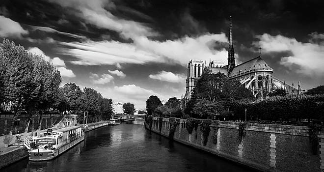 Notre Dame Cathedral and the River Seine - Paris by Barry O Carroll