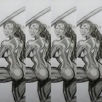 Nude female sketch 18 by Mark Bradley