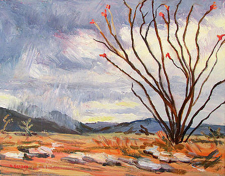 Ocotillo before the Storm by Robert Gerdes