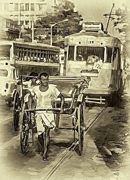Steve Harrington - Oh Calcutta - Paint - Sepia
