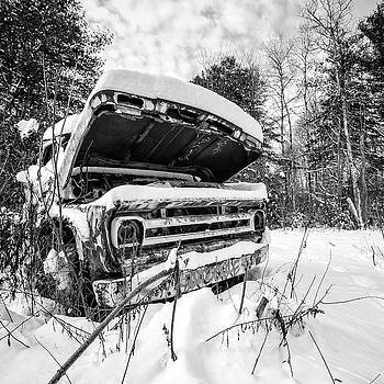 Old Abandoned Pickup Truck in the Snow by Edward Fielding