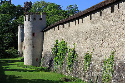 Old city wall in St Alban Basel, Switzerland by Louise Heusinkveld