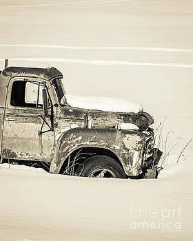Old Farm Truck in the Snow by Edward Fielding