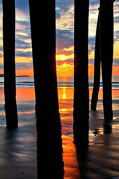 Joann Vitali - Old Orchard Beach Pier Sunrise - Maine
