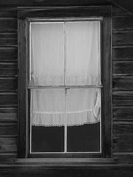 Old Window with Lace Curtain by Marcia Socolik