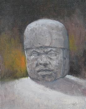 Olmec Stone Head by Michael Gillespie