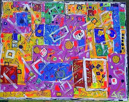 Orange Abstract by Joyce Goldin