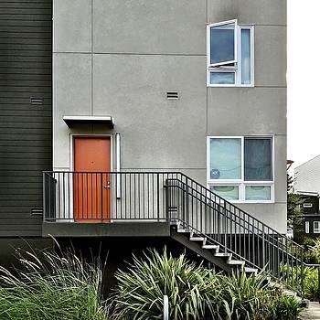 Orange Door by Julie Gebhardt