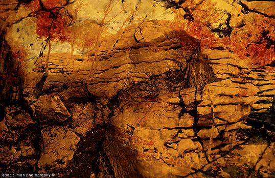 Orange rock. by Isaac Silman