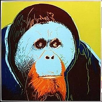 Orangutan by Andy Warhol