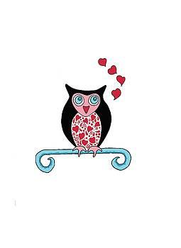 Owl Valentine by Sarah Rosedahl
