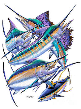 Pacific gamefish  by Carey Chen