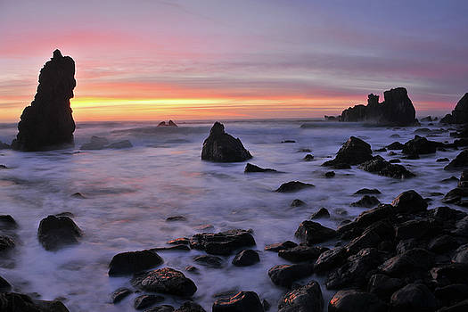 Pacific Valley Big Sur Sunset by Dean Hueber