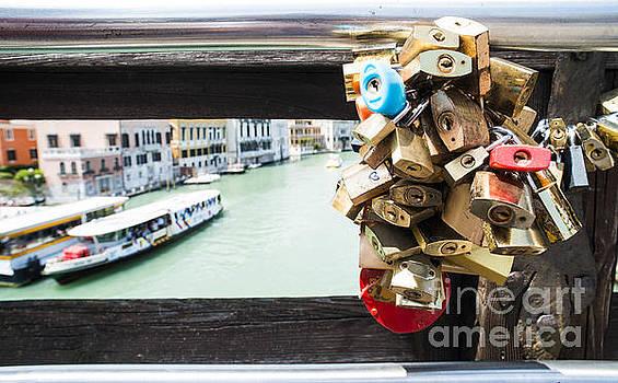 Padlocks of lovers placed on the bridge by Deyan Georgiev