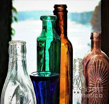 Painted Bottles  by Dee Winslow