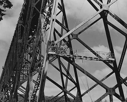 Chicago and North Western Historical Society - Painting Boone High Bridge - 1958