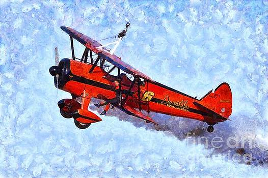 George Atsametakis - Painting of Wingwalker Danielle