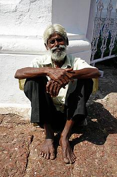 Panjim beggar man by Gavin Bates