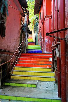 Panjim steps by Gavin Bates