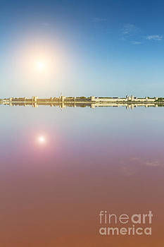Panoramic view of Aigues-Mortes from salt flats - Camargue - France by Pier Giorgio Mariani