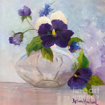 Pansies In Glass by Barbara Haviland