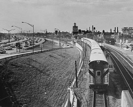 Chicago and North Western Historical Society - Passenger Train at Clybourn Junction  - 1962