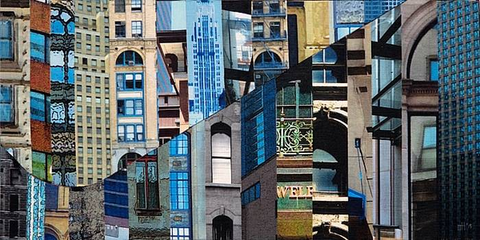 Patchwork City 17 by Marilyn Henrion