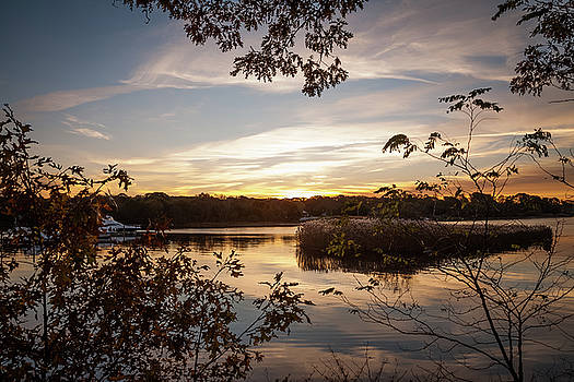 Pawcatuck River Sunrise by Kirkodd Photography Of New England