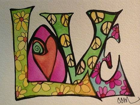Peace And Love by Claudia Cole Meek