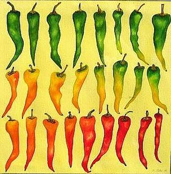 Peppers by Elizabeth H Tudor