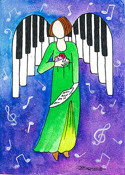 Piano Angel by Michelle Stone