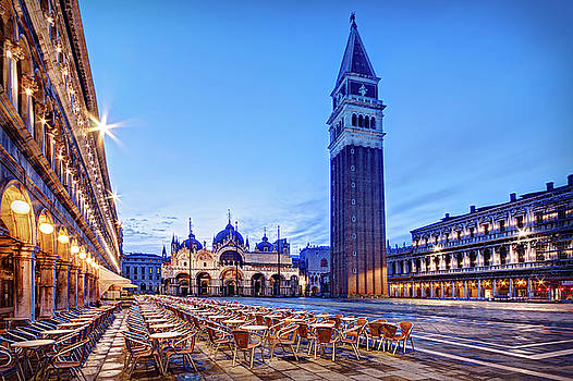 Piazza San Marco at Dawn - Venice by Barry O Carroll
