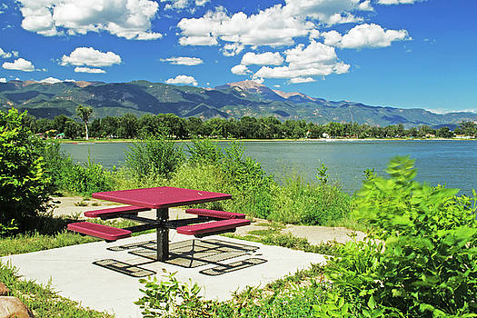 Picnic Table at Prospect Lake by Richard Risely