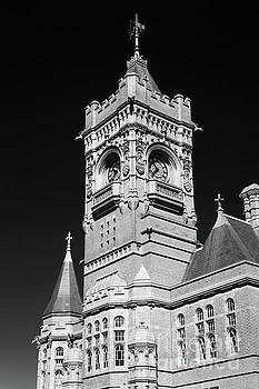 Steve Purnell - Pierhead Building Cardiff Bay Monochrome