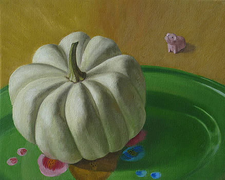 Pig in a Still Life by Amy Tennant