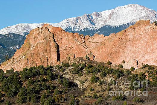 Steve Krull - Pikes Peak behind Garden of the Gods