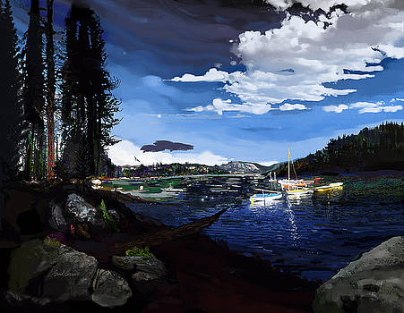 Pinecrest and Boats by Brad Burns